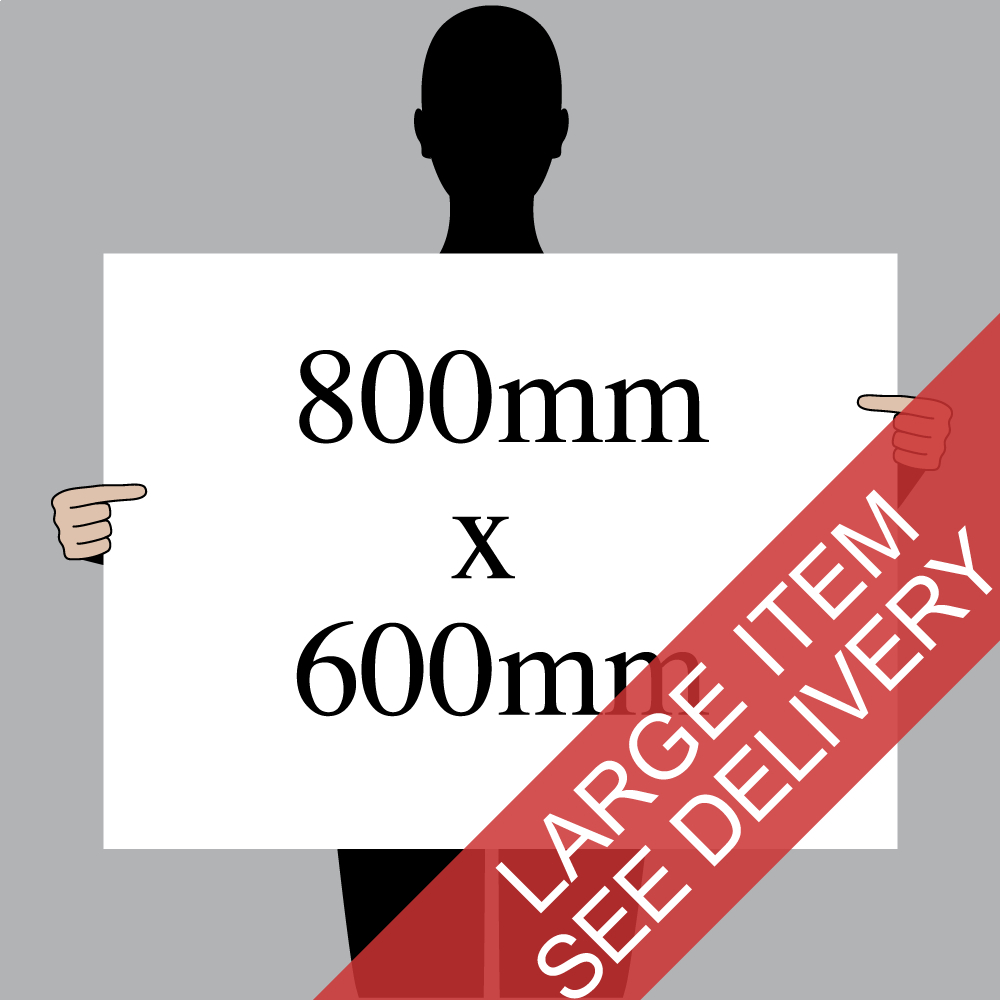 "Size indication of 800mm (32"") / 600mm (24"")"