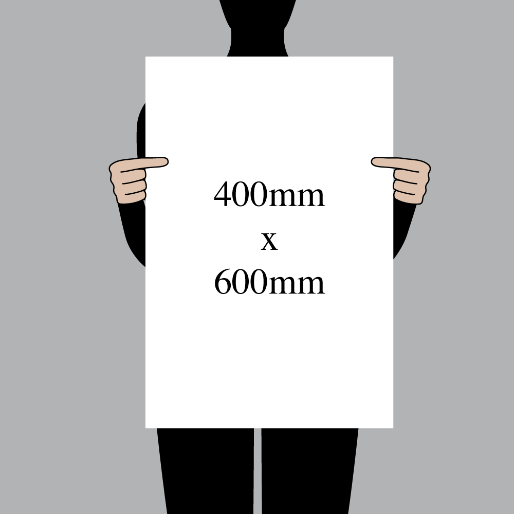 "Size indication of 400mm (16"") / 600mm (24"")"