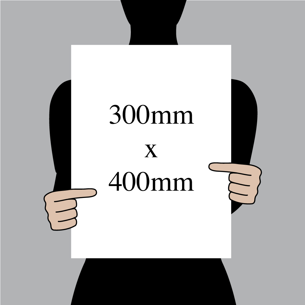 "Size indication of 300mm (12"") / 400mm (16"")"