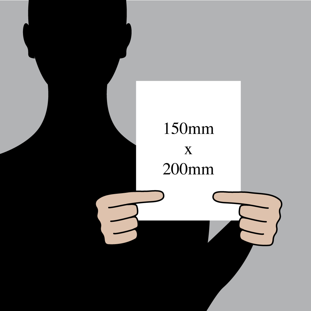 "Size indication of 150mm (6"") / 200mm (8"")"