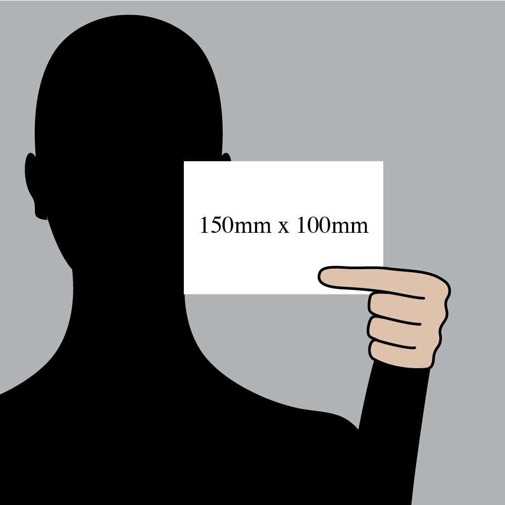 "Size indication of 150mm (6"") / 100mm (4"")"