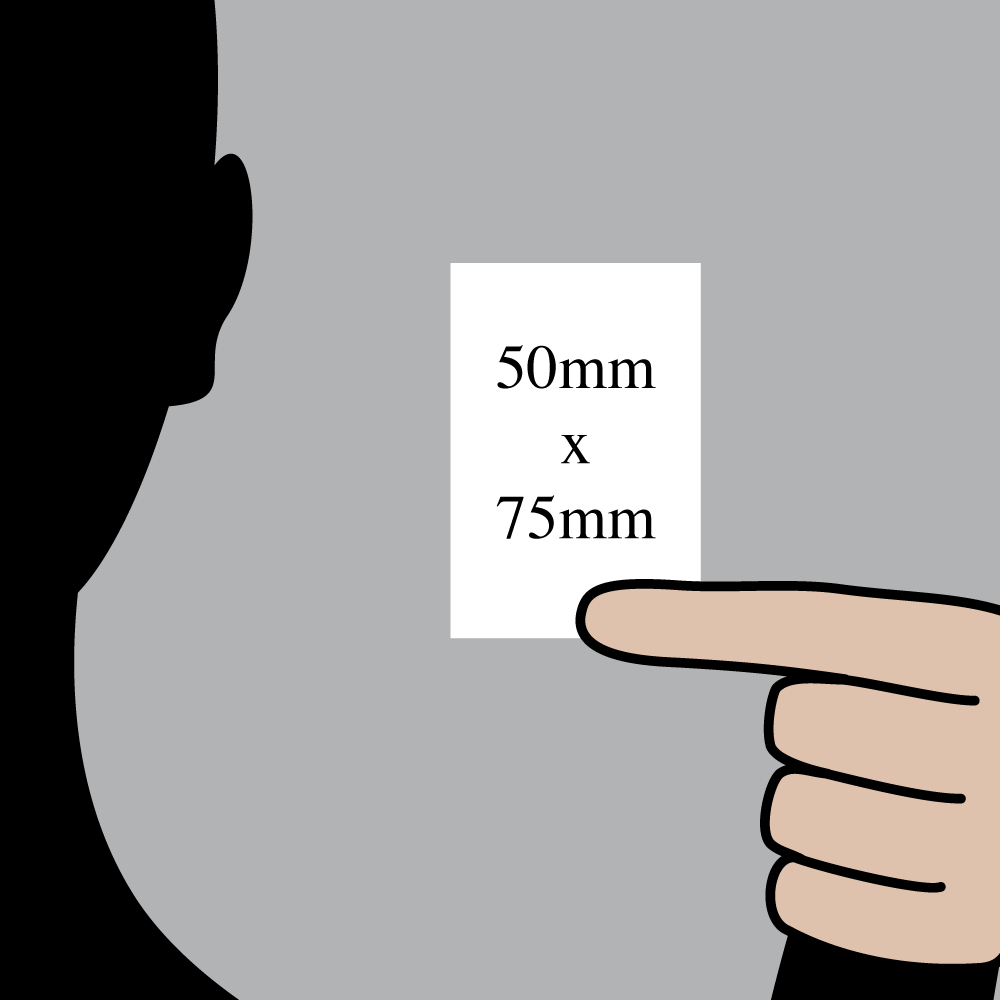 "Size indication of 50mm (2"") / 75mm (3"")"