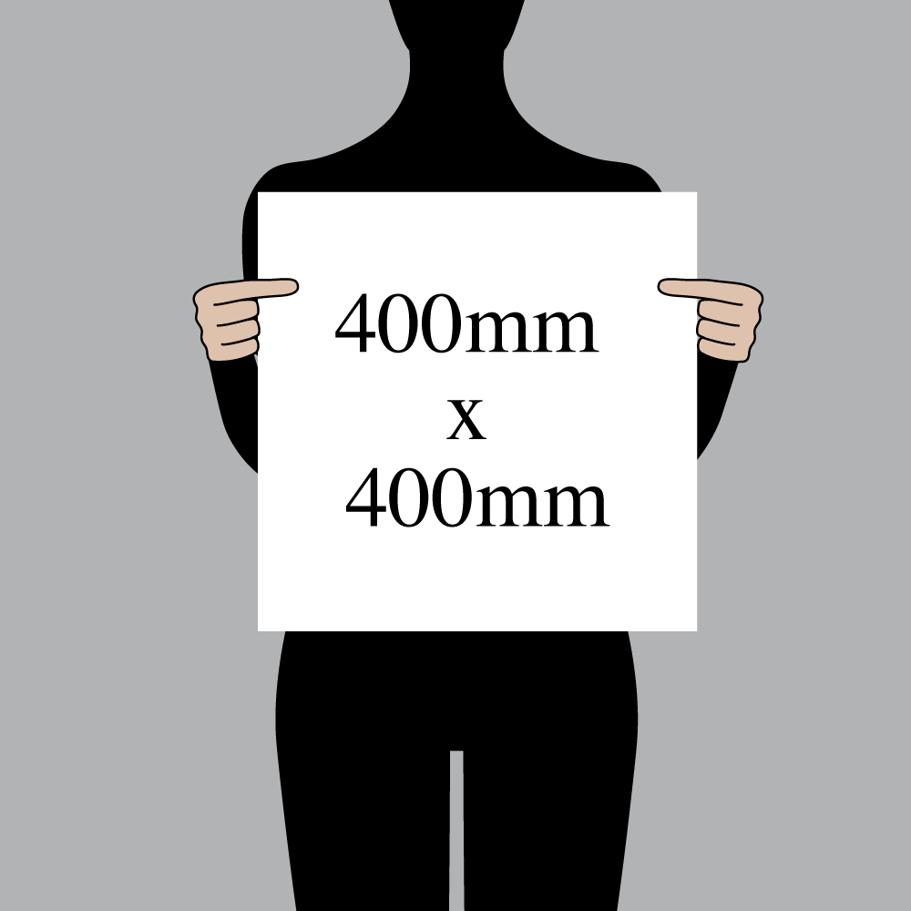 "Size indication of 400mm (16"") / 400mm (16"")"